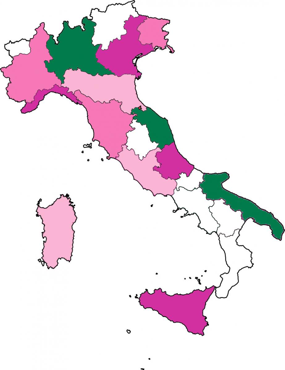 Mappa delle piazze aderenti alla Giornata del Ciclamino 2019