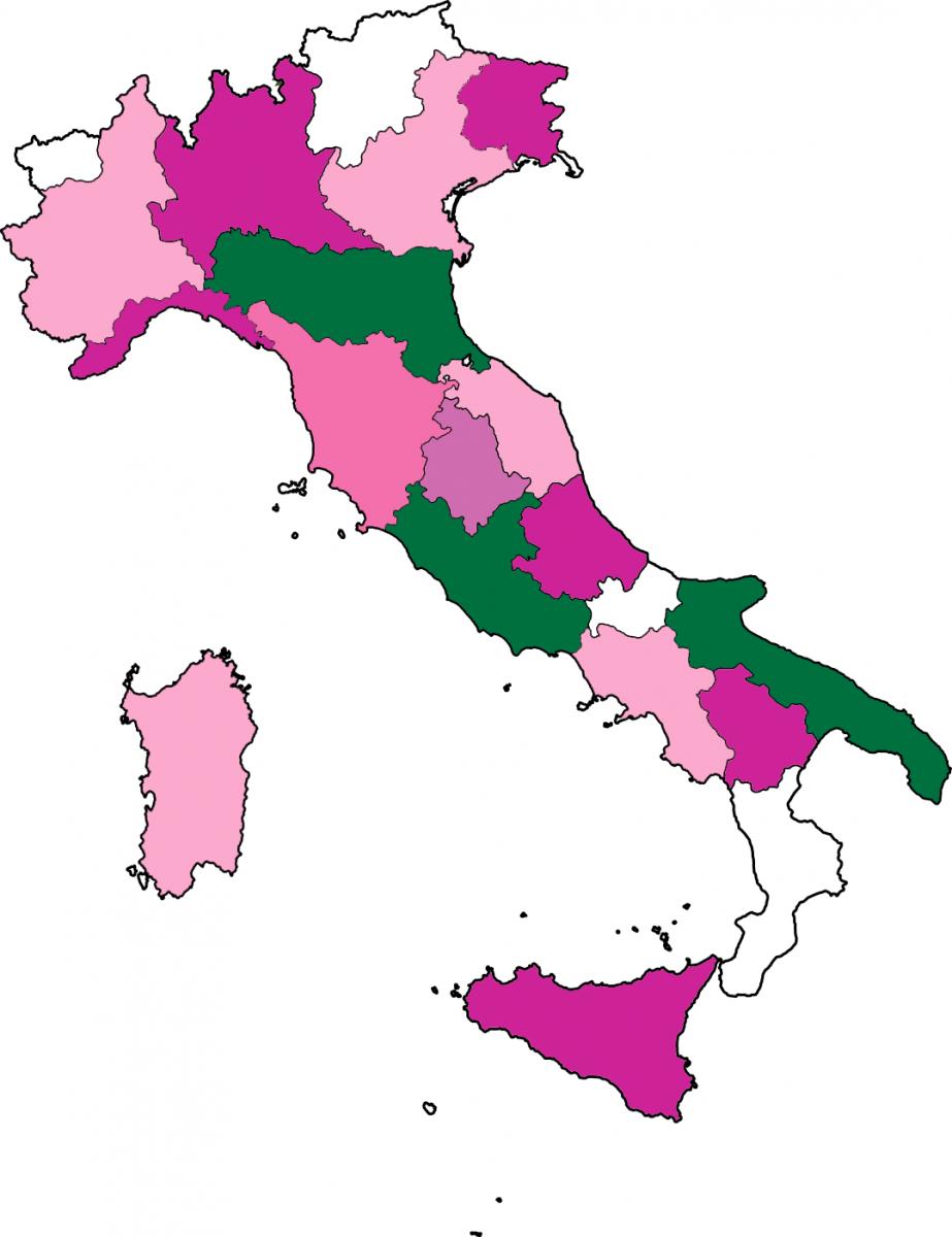 Mappa delle piazze aderenti alla Giornata del Ciclamino 2017