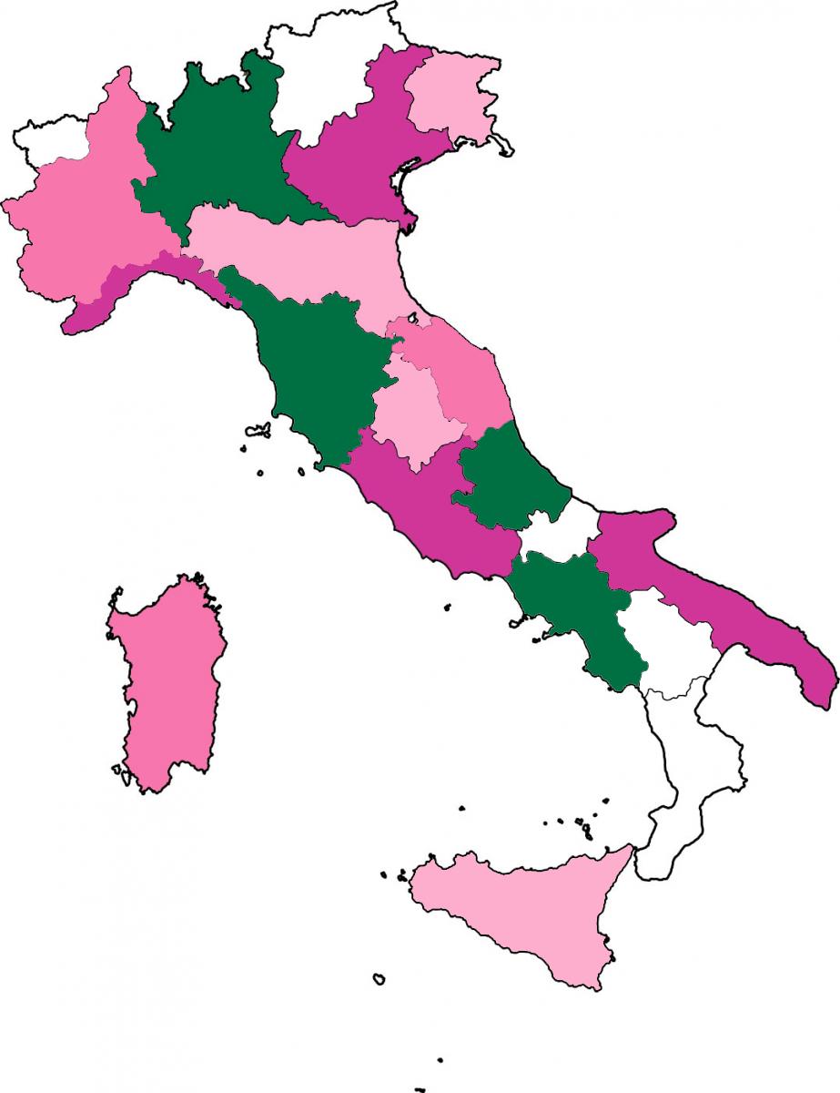 Mappa delle piazze aderenti alla Giornata del Ciclamino 2018